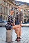 Anna Selezneva and Anabela Belikova after Valentino Couture