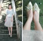 Minimalist + Golden Shoes