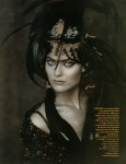 Amber Valletta & Shalom Harlow by Paolo Roversi for Vogue UK May 1996, Rainbow Warriors 01