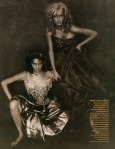 Amber Valletta & Shalom Harlow by Paolo Roversi for Vogue UK May 1996, Rainbow Warriors 03