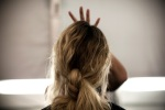 Michael Kors Spring 2011 backstage hair