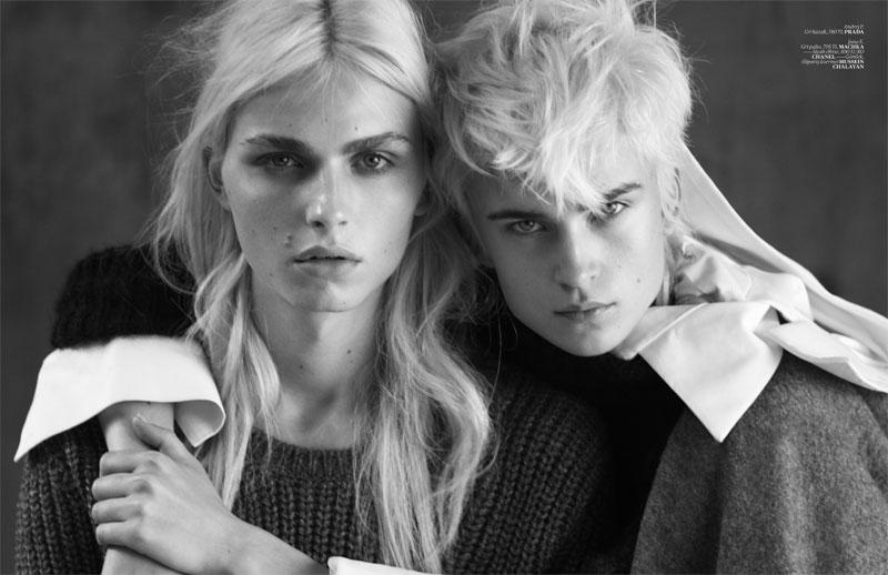 Andrej Pejic & Jana K by Matthew Brookes for Vogue Turkey November 2010, Androjen 06