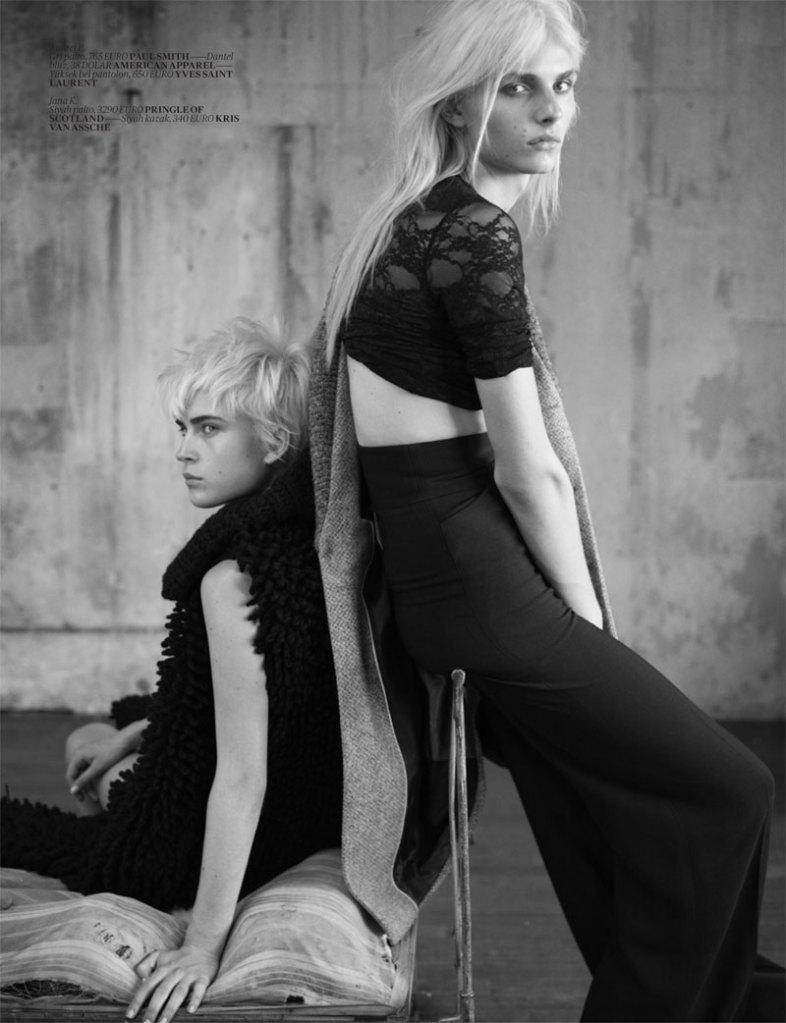 Andrej Pejic & Jana K by Matthew Brookes for Vogue Turkey November 2010, Androjen 08