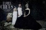 Arizona Muse, Britt Maren, Lindsey Wixson and Anais Pouliot by Paolo Roversi for W December 2010, Family Circus 01
