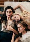 Bambi Northwood-Blyth, Lisanne de Jong, Hannah Holman, Abbey & Meag by Benny Horne for Russh #38, Just Like Sisters 02