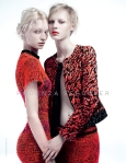 Melissa Tammerijn and Julia Nobis by Willy Vanderperre for Proenza Schouler Spring 2011 Ad Campaign 01