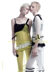 Melissa Tammerijn and Julia Nobis by Willy Vanderperre for Proenza Schouler Spring 2011 Ad Campaign 02