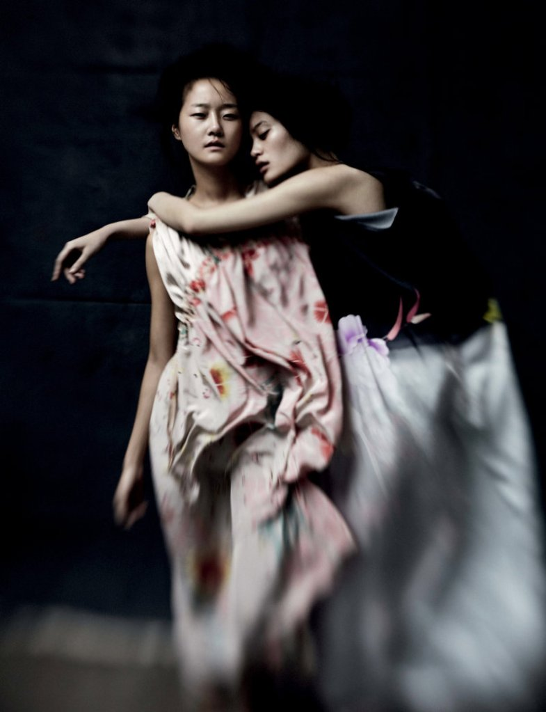 Ming Xi & Hyoni Kang by Will Davidson for Dazed & Confused February 2011, I was born, but...04