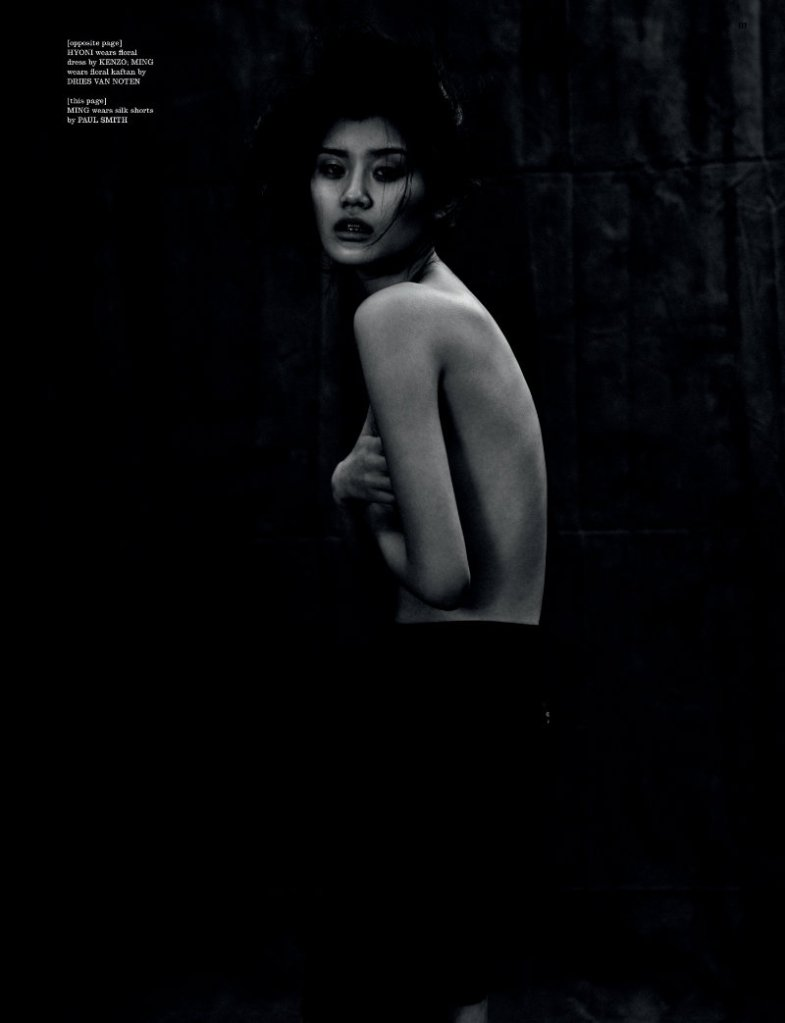 Ming Xi & Hyoni Kang by Will Davidson for Dazed & Confused February 2011, I was born, but...05