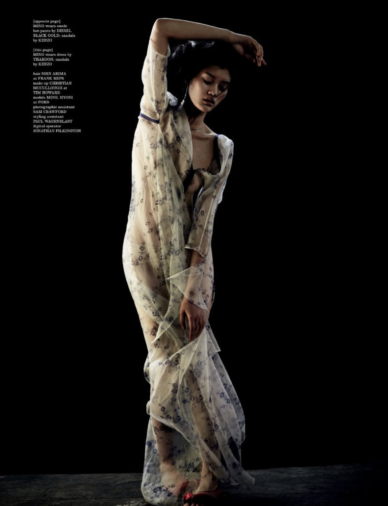 Ming Xi & Hyoni Kang by Will Davidson for Dazed & Confused February 2011, I was born, but...07
