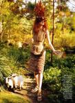 Karen Elson by Bruce Weber for Vogue US March 2011, The Enchanted Garden 04