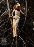 Karen Elson by Bruce Weber for Vogue US March 2011, The Enchanted Garden 05